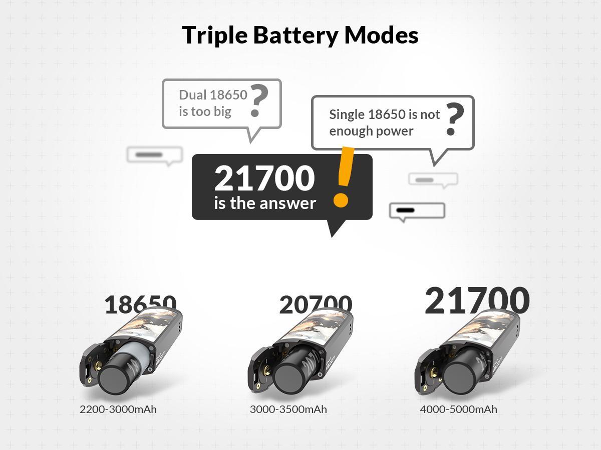 Baterías compatibles de OXVA Velocity: